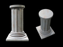 Roman Column. Two poses of a clean marble roman column Royalty Free Stock Images