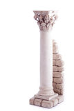 Roman column bookend. Isolated in a white backgroun Royalty Free Stock Photography