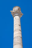 Roman column. Brindisi. Puglia. Italy. Stock Photos