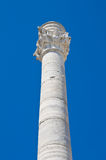 Roman column. Brindisi. Puglia. Italy. Perspective of the Roman column of Brindisi. Puglia. Italy Stock Photography
