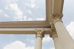 Roman column head. Stock Photos