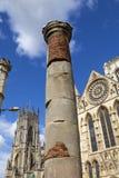 Roman Column i York Arkivbild
