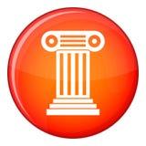 Roman column icon, flat style Stock Photo