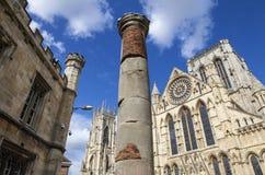 Roman Column in York Royalty Free Stock Images