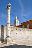 Roman column in Zadar, Croatia Stock Images
