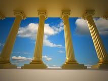 Roman columns vector illustration