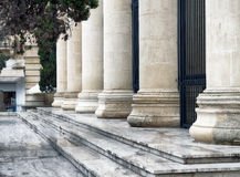 Roman columns architecture in Valletta, Malta Stock Photo