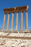 Roman columns at Baalbeck Royalty Free Stock Photo