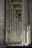 Roman columns, beautiful walkway. Classical Greek Architecture in Italian style Royalty Free Stock Image