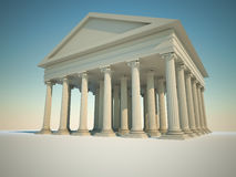 Roman columns building Stock Photo