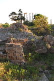 Roman Columns at Byblos royalty free stock photos