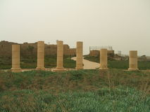 Roman columns, Caesarea, Israel, Middle East Stock Photo