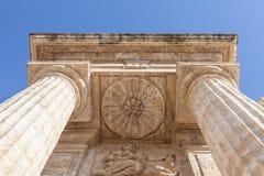 Roman columns. Detail in prospective of Roman columns, Italy Stock Photography