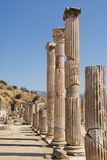 Roman columns in Ephesus Turkey Stock Photography