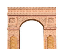 Roman columns gate isolated Stock Photo