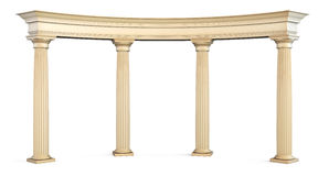Roman columns gate  on white with clipping path. 3d. Stock Photography