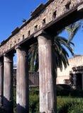 Roman columns, Herculaneum, Italy. Stock Image