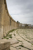 Roman columns in Jerash Royalty Free Stock Photography