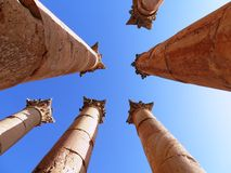 Roman columns Royalty Free Stock Images