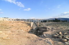 Roman Columns - Jerash, Jordan Stock Image