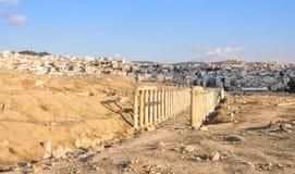 Roman Columns - Jerash, Jordan Stock Photos