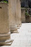 Roman columns in Jerusalem. Very large photos Royalty Free Stock Images