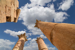 Roman Columns in in the Jordanian city of Jerash (Gerasa of Antiquity) Stock Photography
