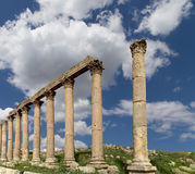 Roman Columns in the Jordanian city of Jerash (Gerasa of Antiquity), Jordan Stock Photo