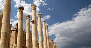 Roman Columns in the Jordanian city of Jerash , Jordan Royalty Free Stock Image