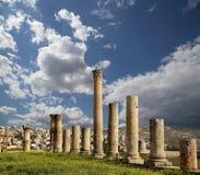 Roman Columns in the Jordanian city of Jerash, Jordan Stock Photography