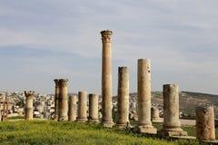 Roman Columns in the Jordanian city of Jerash, Jordan Stock Image