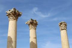 Roman Columns in the Jordanian city of Jerash, Jordan Royalty Free Stock Photography
