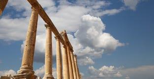 Roman Columns in the Jordanian city of Jerash, Jordan Royalty Free Stock Image