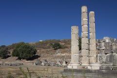 Roman columns in the Letoun, Turkey Stock Photography
