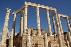 Roman columns, Libya Royalty Free Stock Images