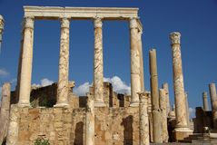 Roman columns, Libya Royalty Free Stock Images