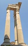 Roman Columns near the Marcello Theatre. Ancient Roman empire ruins Columns Near the Marcello Theatre, Jewish Ghetto Rome Royalty Free Stock Photography