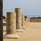 Roman columns perspective Royalty Free Stock Image