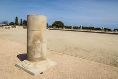Roman columns ruin Stock Images