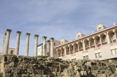 Roman columns of a temple Royalty Free Stock Photo