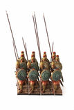 Roman combat phalanx toys Stock Photo