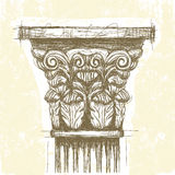Roman Corinthian capital Royalty Free Stock Image