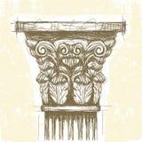 Roman Corinthian-kapitaal stock illustratie