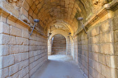 Roman corridor Royalty Free Stock Photo