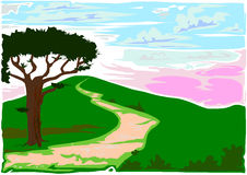 Roman Countryside Vector Stock Image