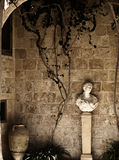 Roman Courtyard. A typical Roman era courtyard in a medieval house in Mdina in Malta Stock Image