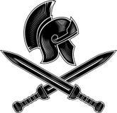 Roman Crest Calligraphic Style illustrazione vettoriale