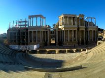 Old roman Theatre in Merida, Spain royalty free stock images