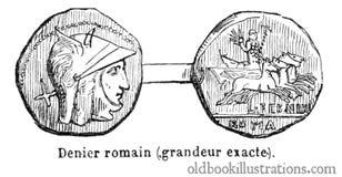 Roman Denarius Royalty Free Stock Photography