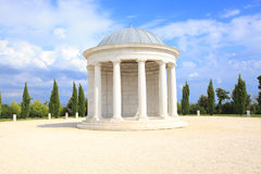 Roman dome. Ancient roman dome with trees in a background royalty free stock photo